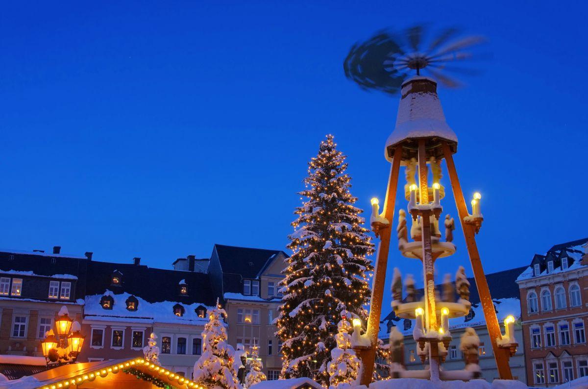 Pyramide auf dem Weihnachtsmarkt Annaberg-Buchholz
