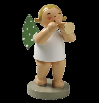 Grünhainicher Engel mit Flöte