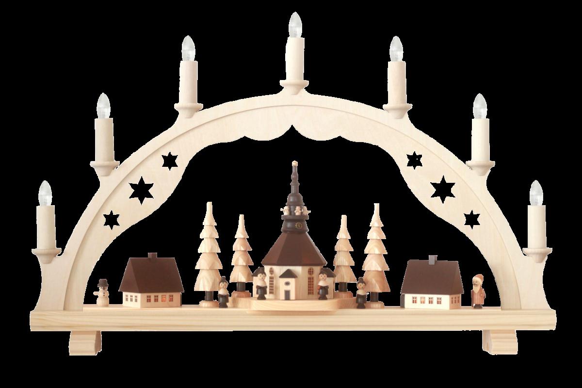Schwibbogen mit Seiffener Kirche