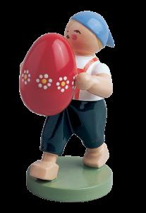 Figur Wendt & Kühn: Junge mit Osterei