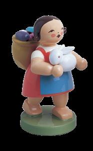 Figur Wendt & Kühn: Mädchen mit Ostereiern und Osterhasen