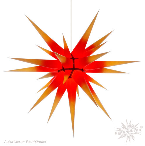 Herrnhuter Stern® mit Farbverlauf (rot & gelb)