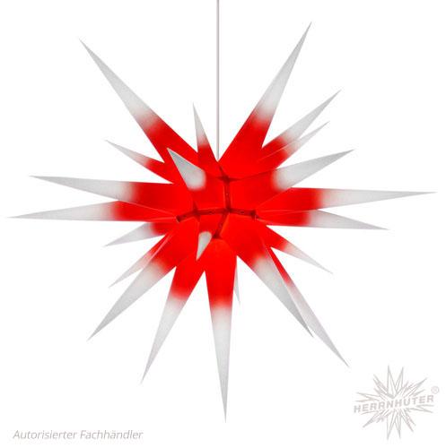 Herrnhuter Stern® mit Farbverlauf (rot & weiß)