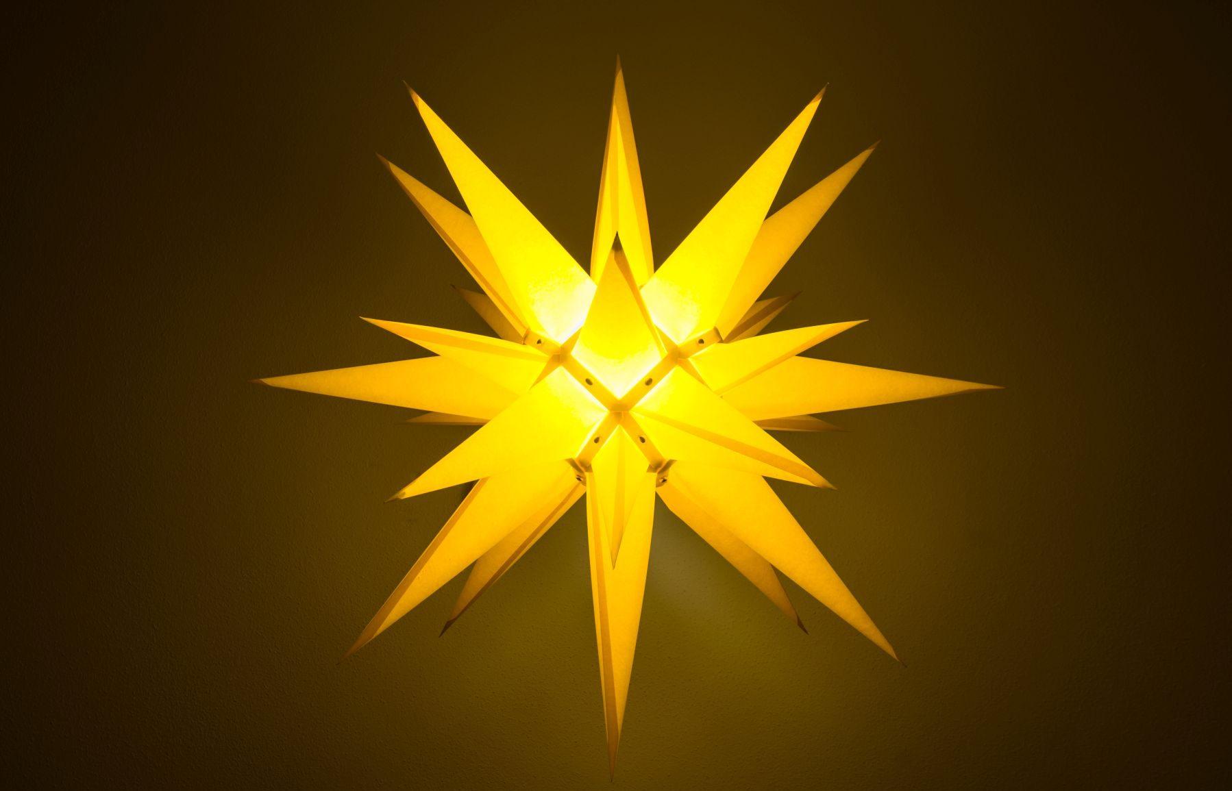 Herrnhuter Stern gelb