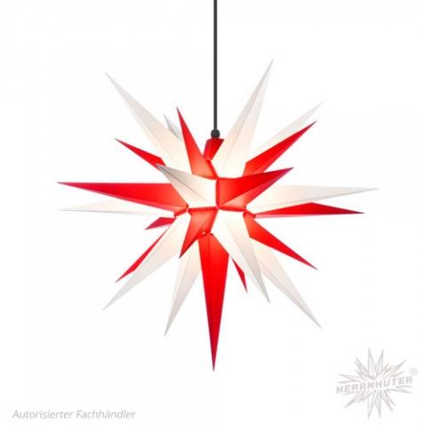 Herrnhuter Stern® zweifarbig (weiß & rot)