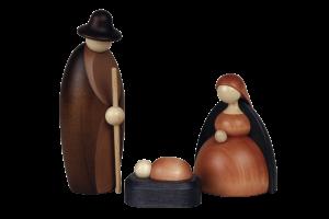 Holzfiguren Geburtsszene, Jesus, Maria, Josef
