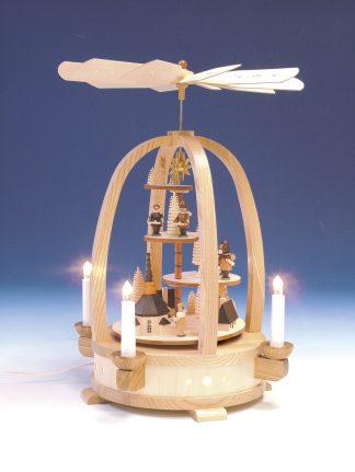 Echt Erzgebirgische Pyramide (elektrisch) mit Seiffener Kirche