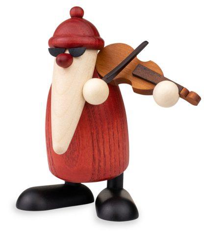 Weihnachtsmann-Figur mit Geige, Original Erzgebirgisch von Björn Köhler