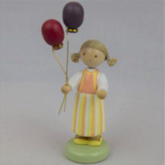 Mädchen mit Luftballons - 1