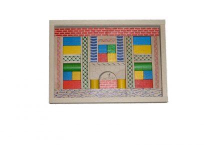 """Holzspielzeug-Set """"Junior 3"""" farbig & natur, 35 Bauklötze in verschiedenen Formen"""