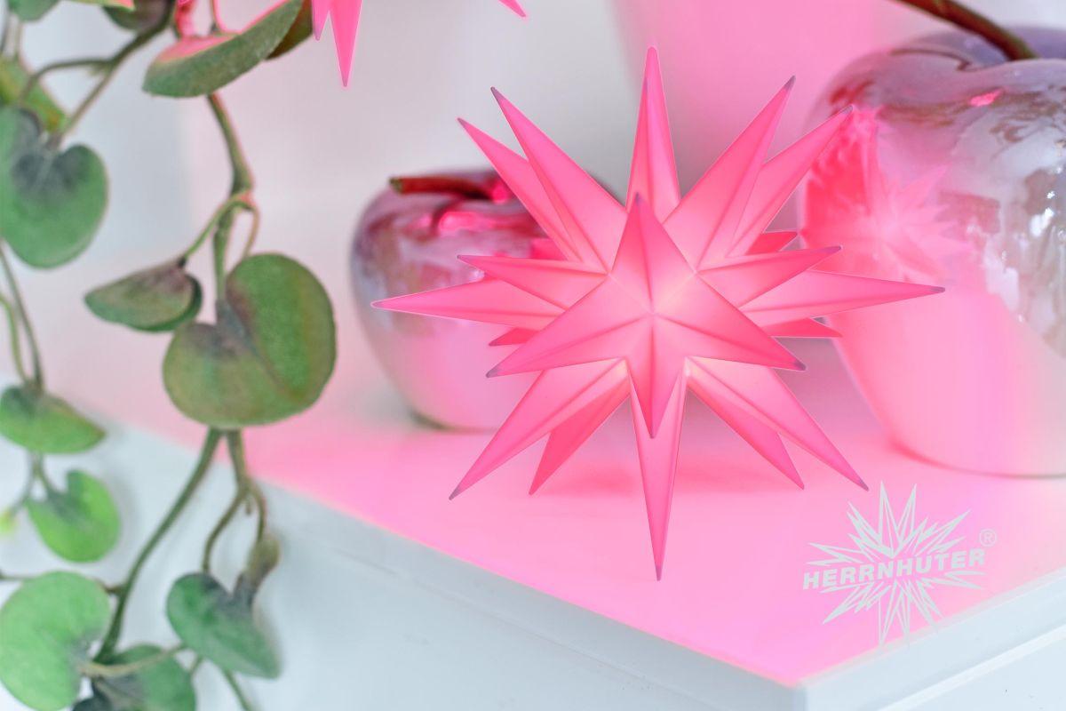 Herrnhuter Stern 13 cm rosa Sonderedition
