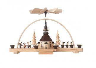 """Schwibbogen-Pyramide """"Seiffener Kirche"""""""