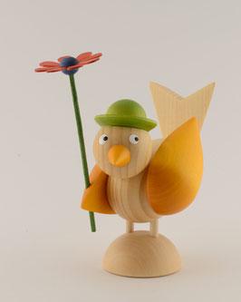 Vogelfrau mit Blume