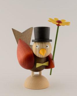 Vogelmann mit Blume